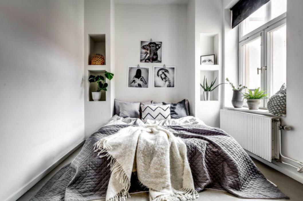 Scandinavian styled bedroom.
