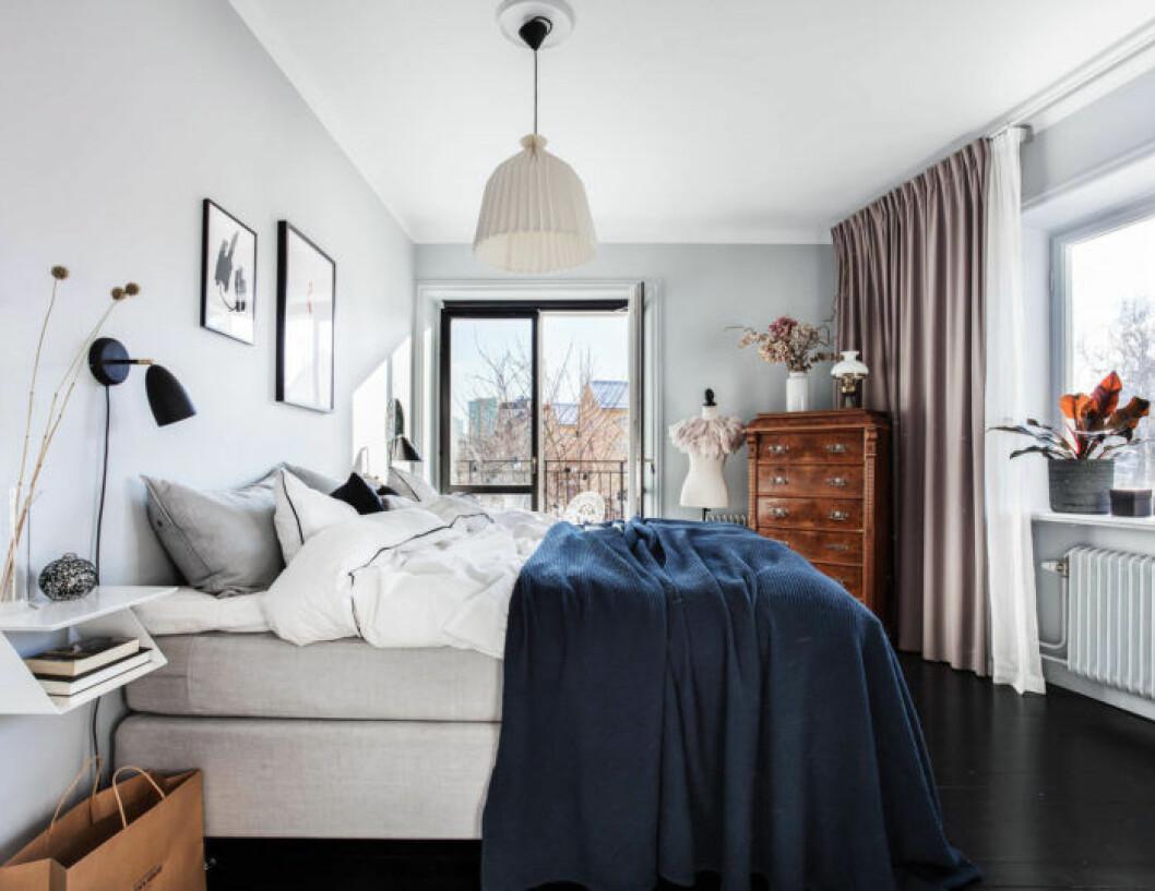 Bedroom in scandinavian home.