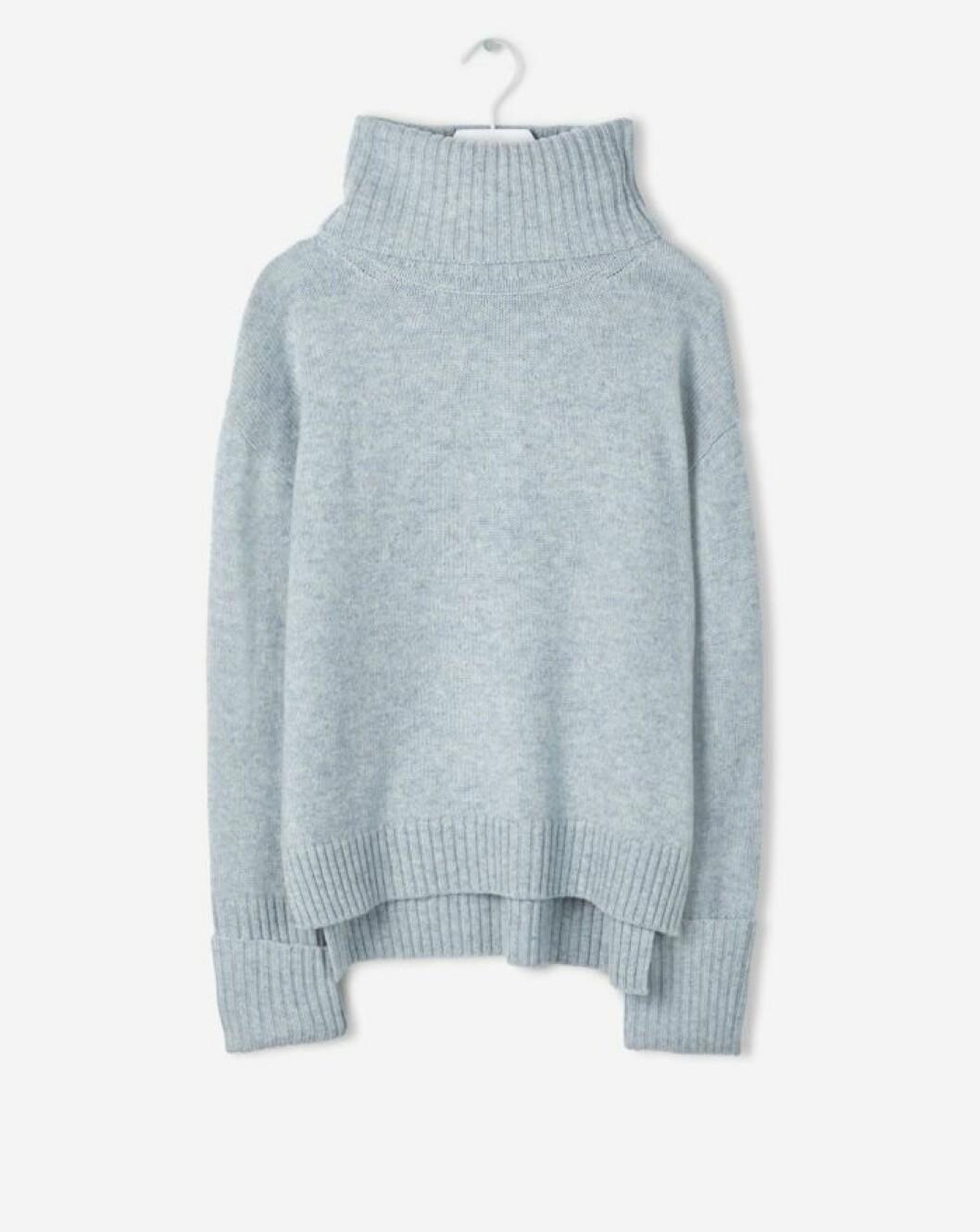 Stickad ljusblå tröja Filippa K