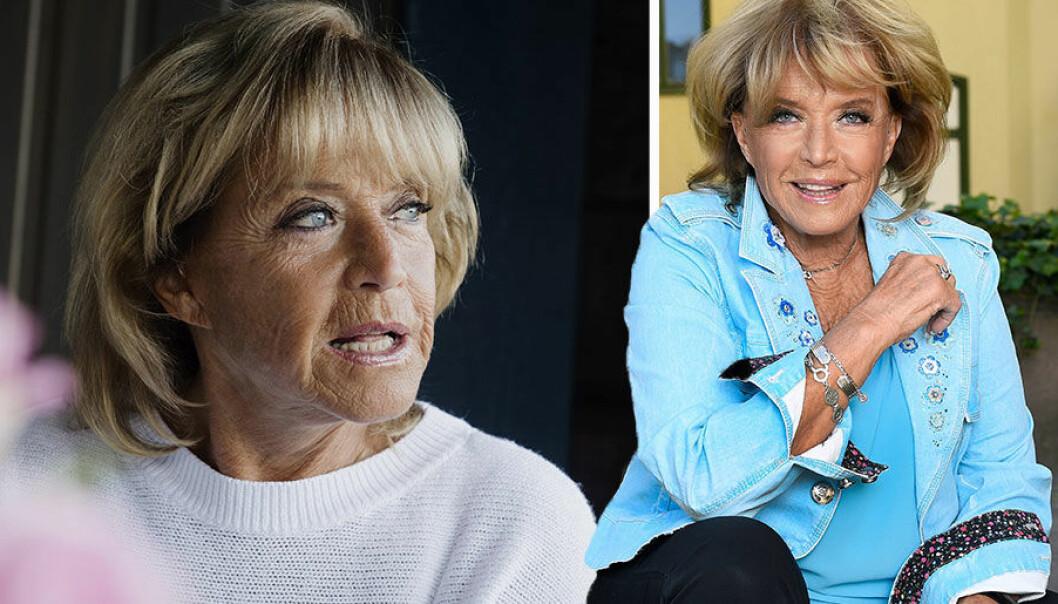 """Barbro """"Lill-Babs"""" Svenssons 80-årsfirande hotat efter att hon lagts in på sjukhus med hjärtflimmer."""