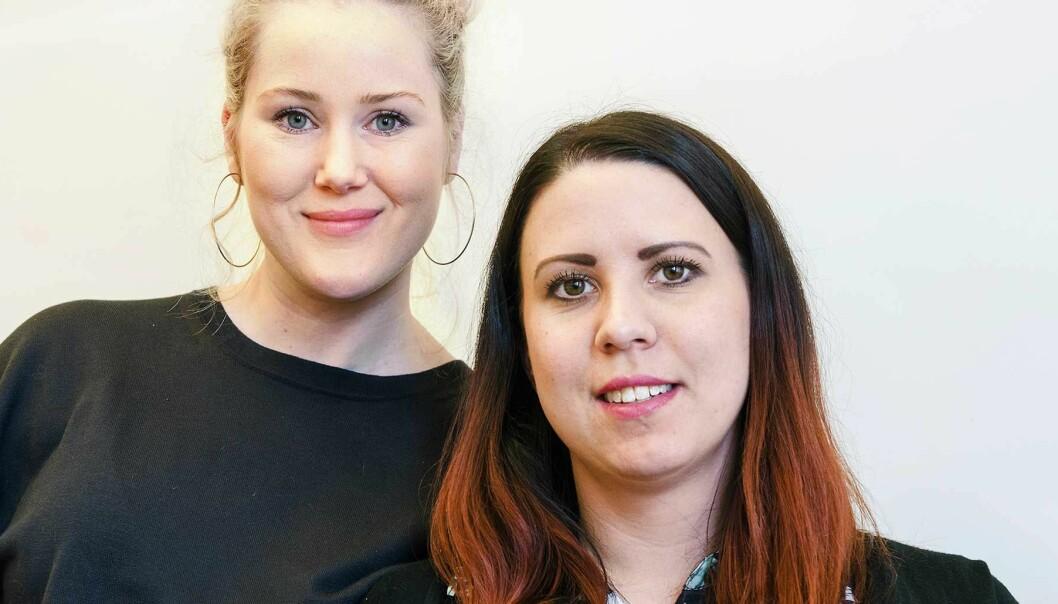 Viktoria Elmbro är HR-konsult och Emma Wiss är ekonom på Nybro kommun. Foto: Kristina Wirén