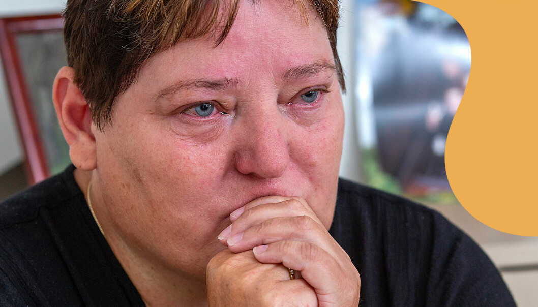 Tårarna trillar på Helle som berättar om sin mördade dotter Louise