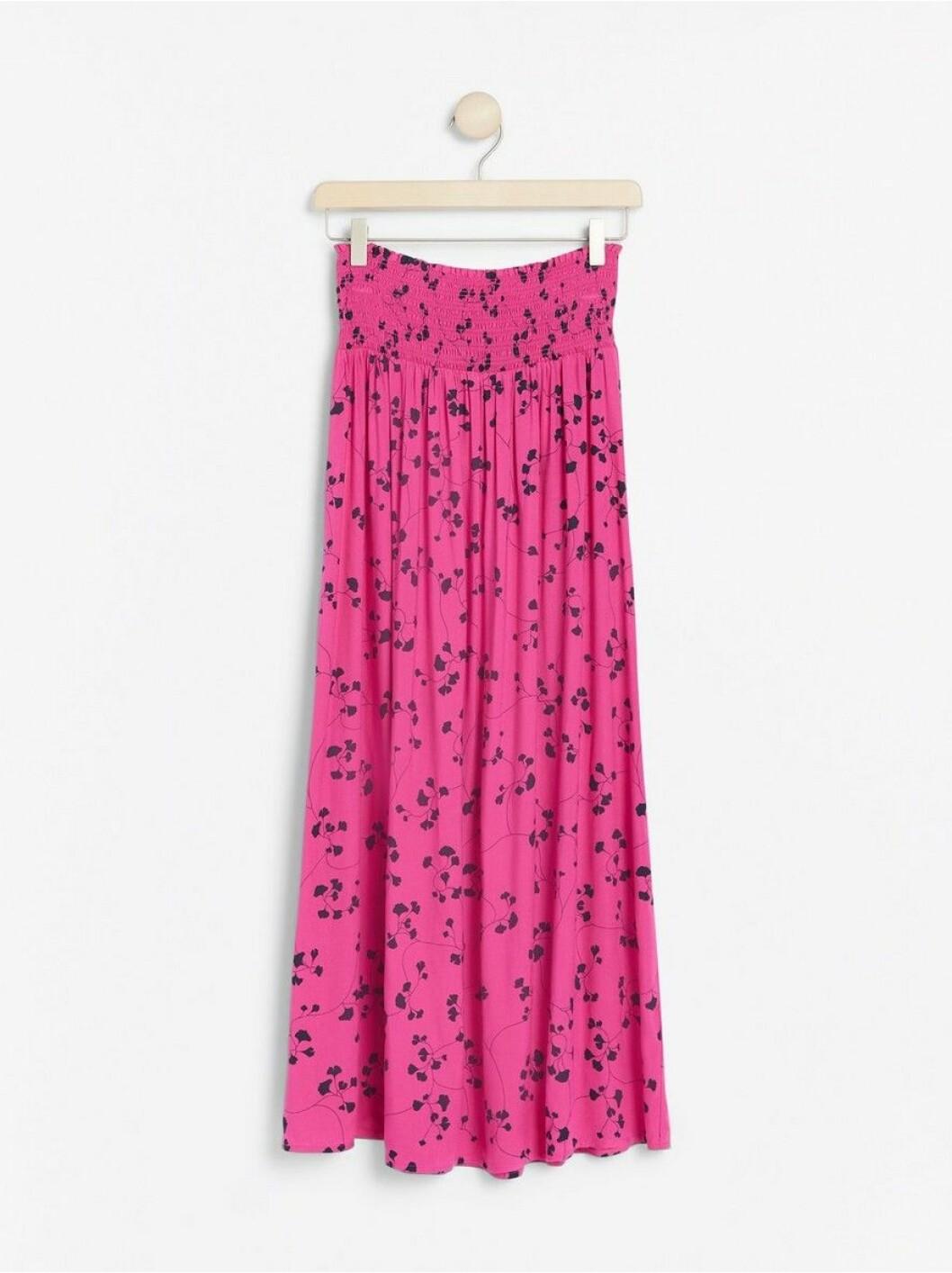 kjol blommor rosa