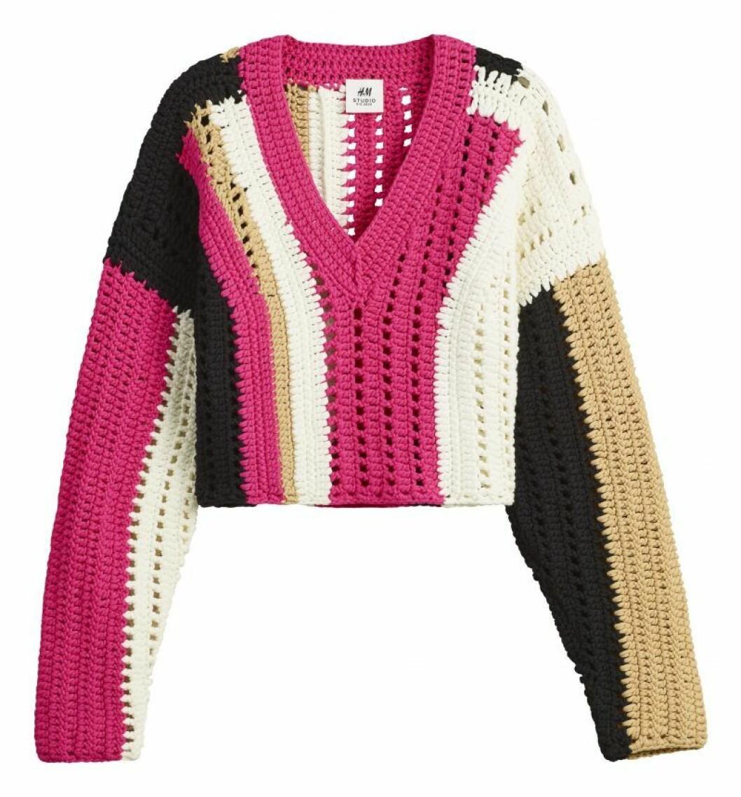 Virkad tröja från H&M Studio SS20