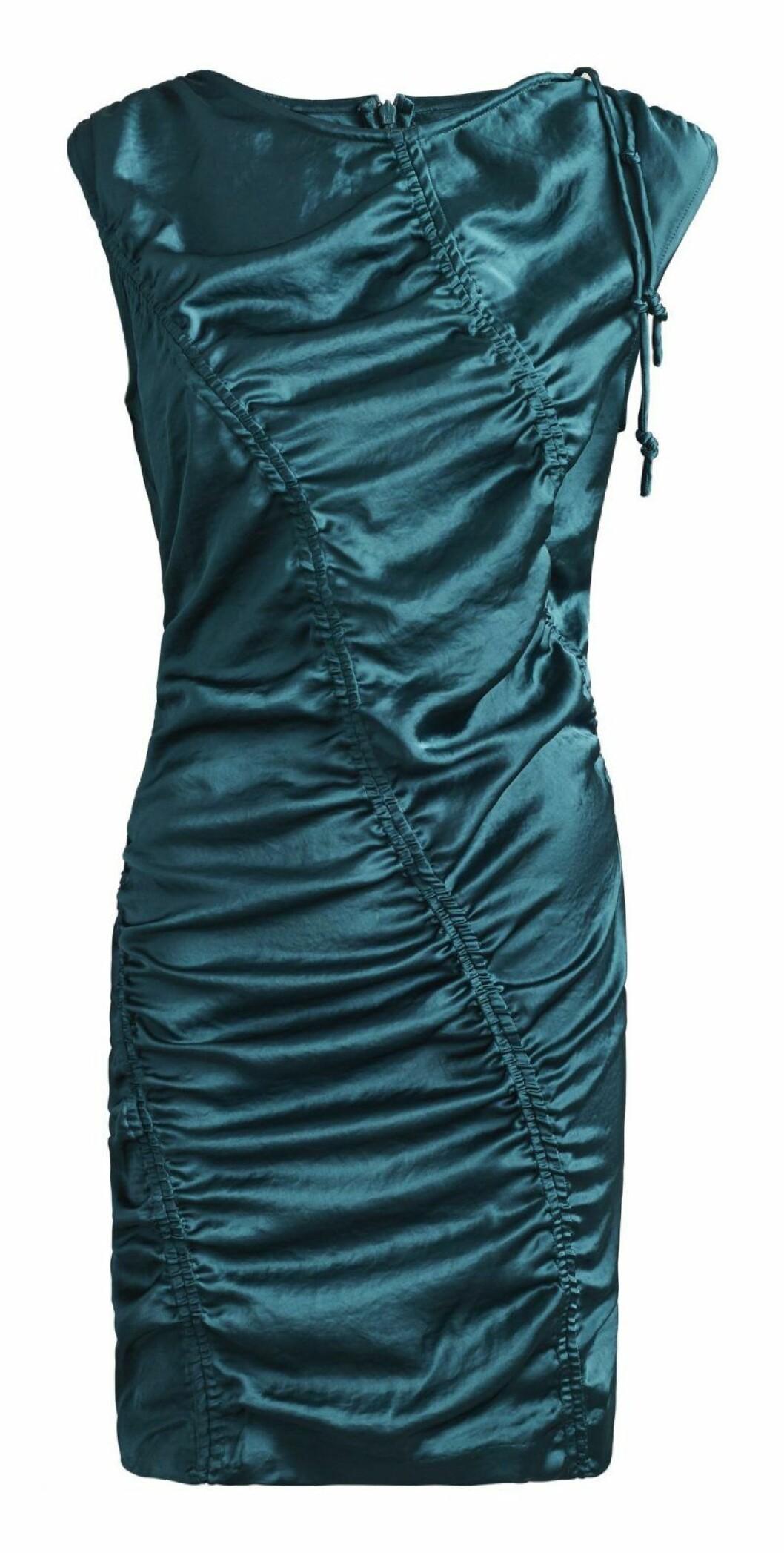 Blå metallic klänning H&M Studio SS20