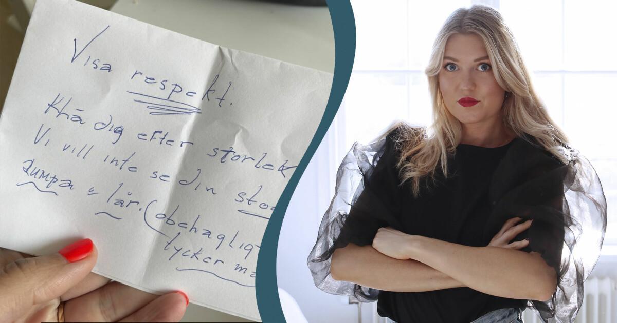 """Stina Wollter ryter ifrån efter hånet mot Soraya – viktiga orden: """"Äg era rövar, äg era olika stora bröst"""""""
