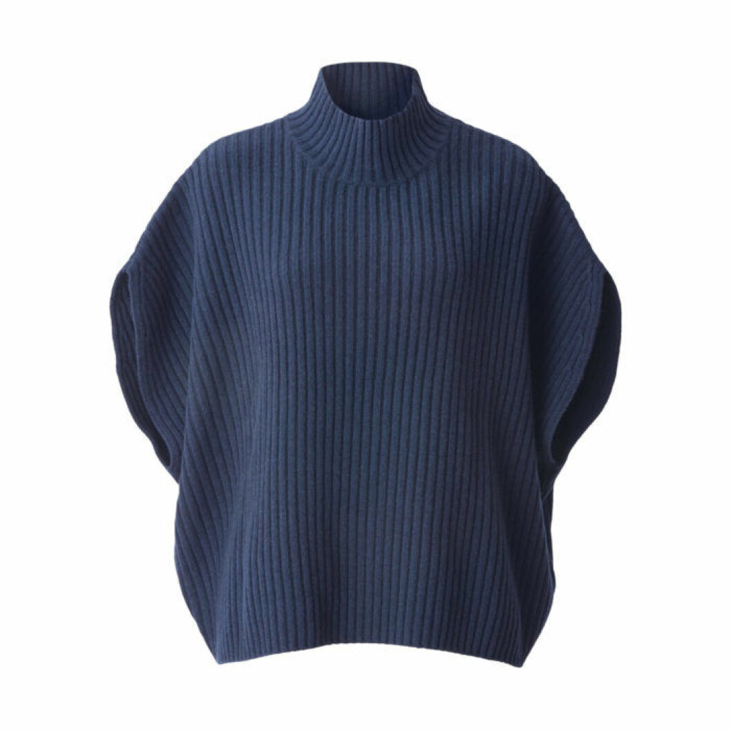 Marinblå stickad tröja från Wera/Åhléns