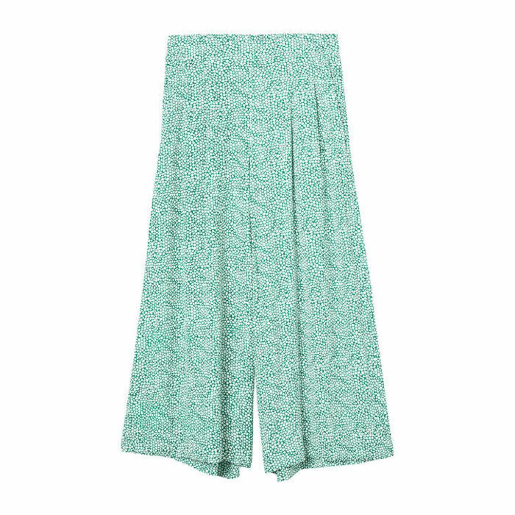 Culotter med grönt mönster