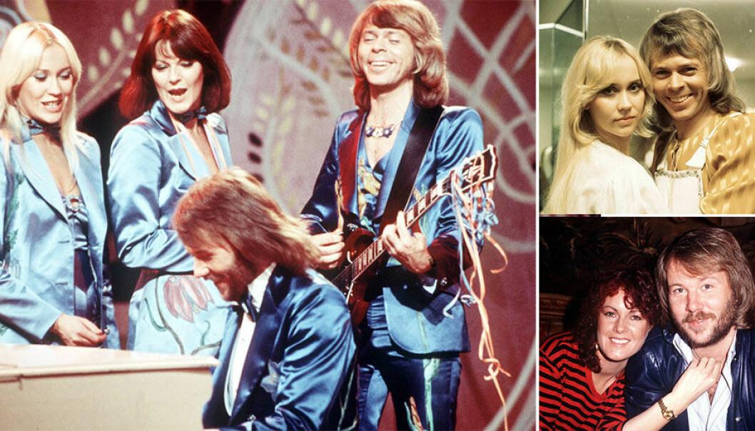 Hela ABBA-gänget när det begav sig på 70- och 80-talen.