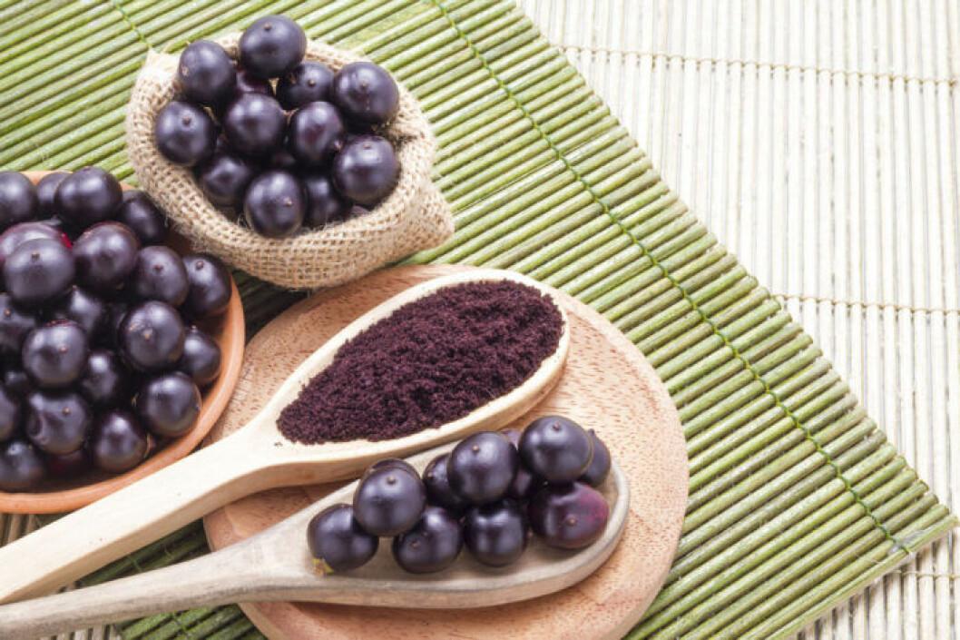Acai är rikt på antioxidanter.