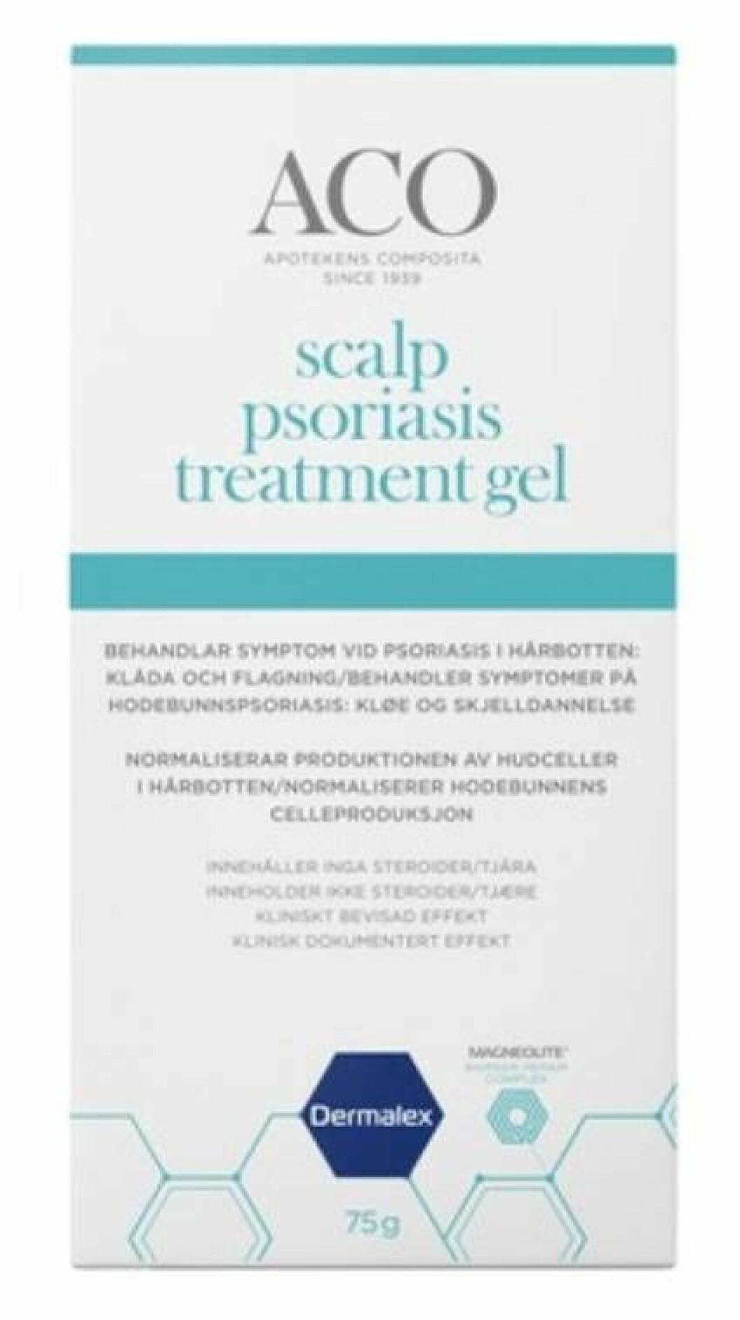 Schampo från ACO, mot psoriasis.