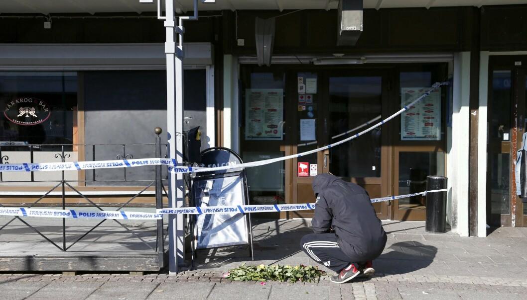 Efter morden på Vår krog och bar i Göteborg.