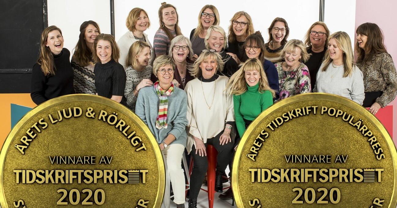 Allas.se är vinnare av tidskriftsgalan dubbelt upp.