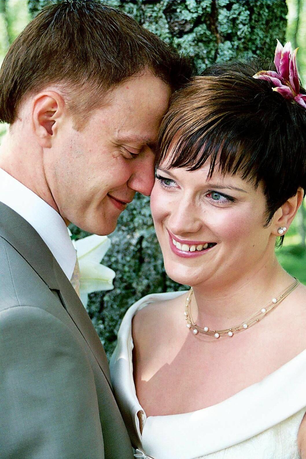 Anders och Lones bröllopsbild