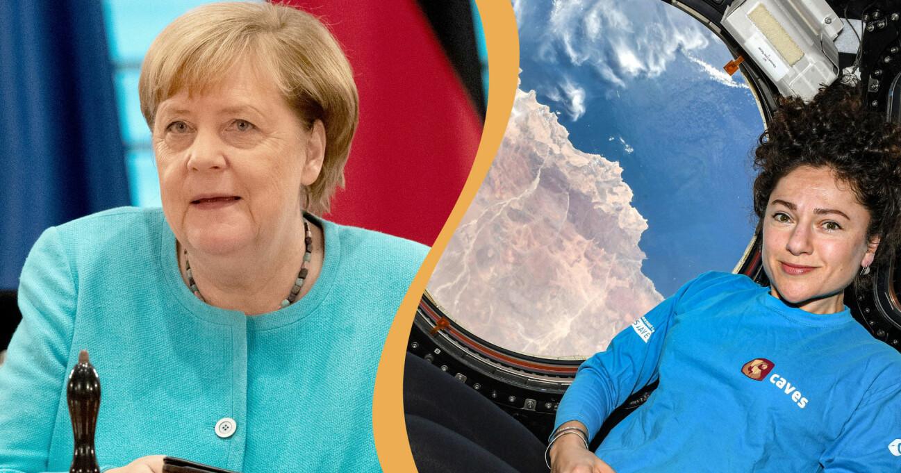 Angela Merkel och Jessica Meir är två av de personer som är med på topp 100-listan.