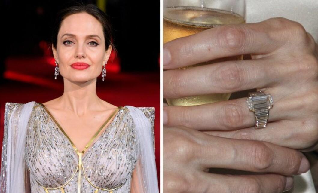 Angelina Jolie och en diamantring
