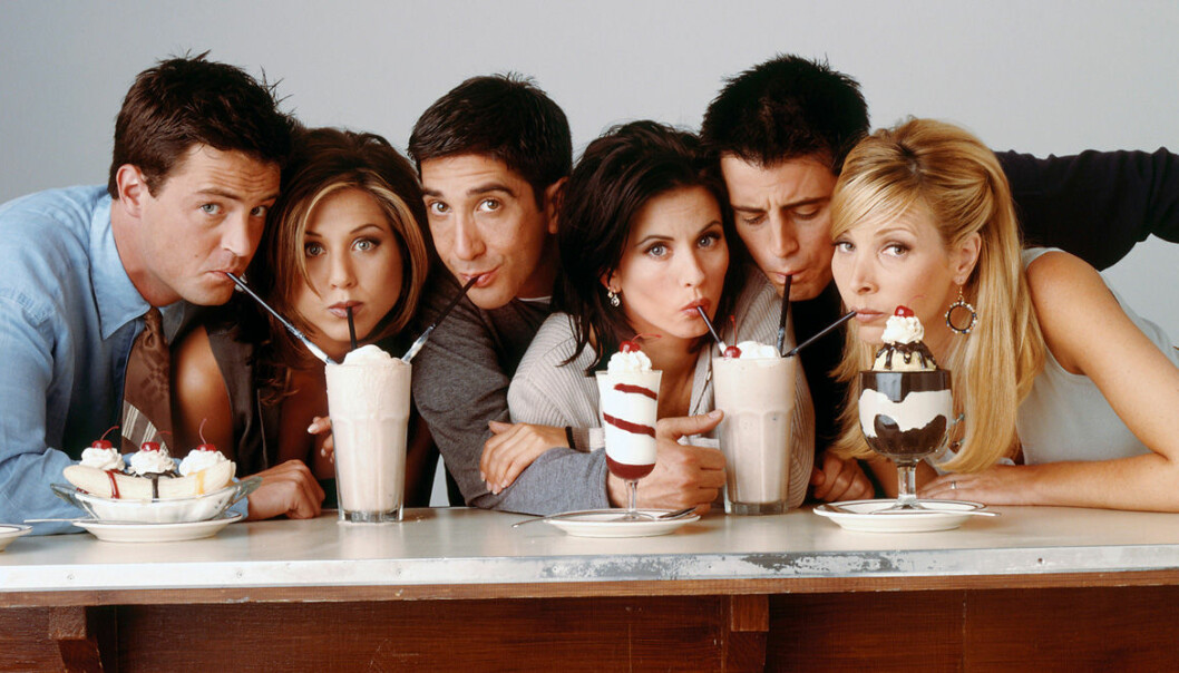 Vänner-gänget dricker Milkshakes
