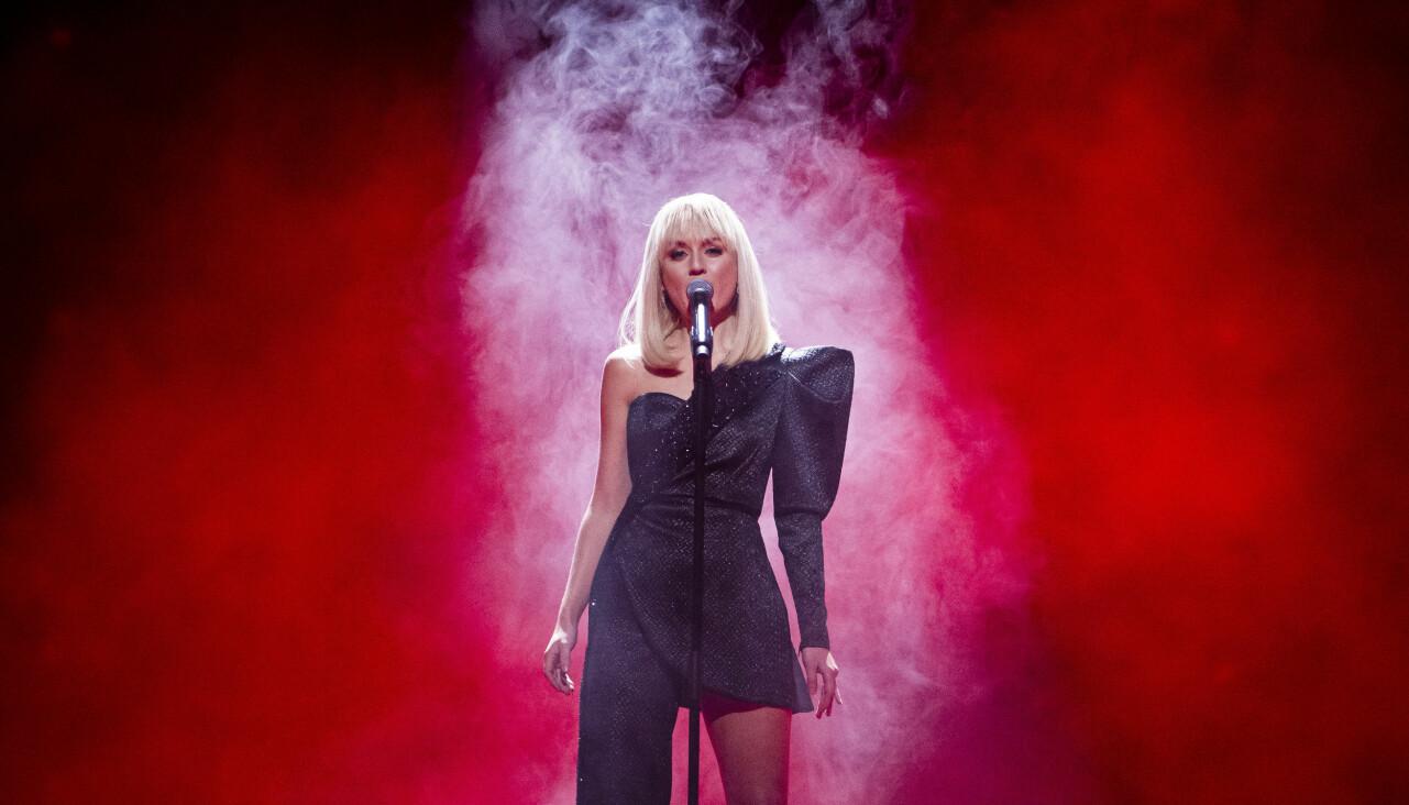Anna Bergendahl i Melodifestivalen 2020.