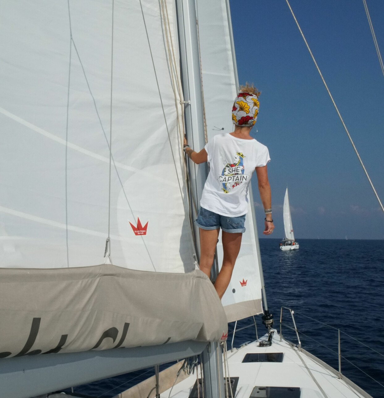 Anna Mourou ute till havs.