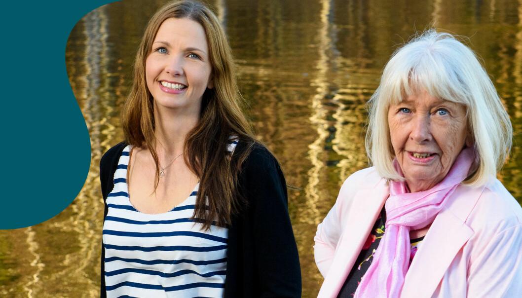 Anna Sjööquist och hennes mamma Ulla Lindau i Göteborg.