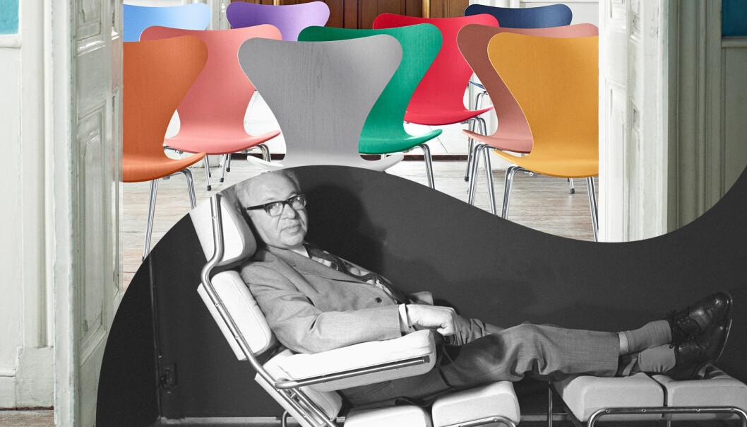 Kollade av Arne Jacobsen och stolarna Myran
