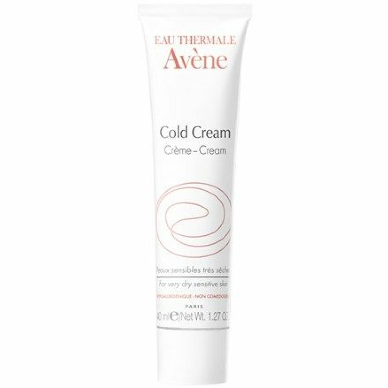 Avene cold cream mot mycket torr hud