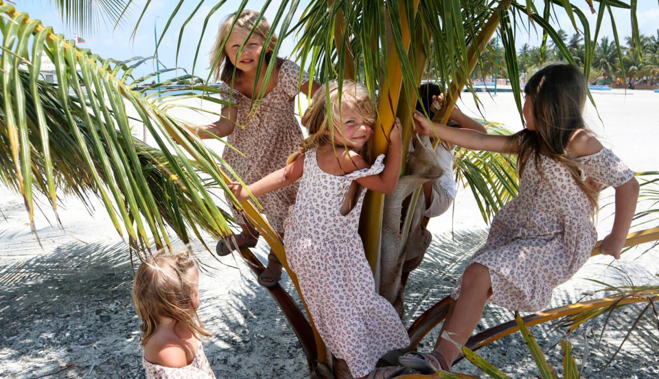 Barn på Maldiverna