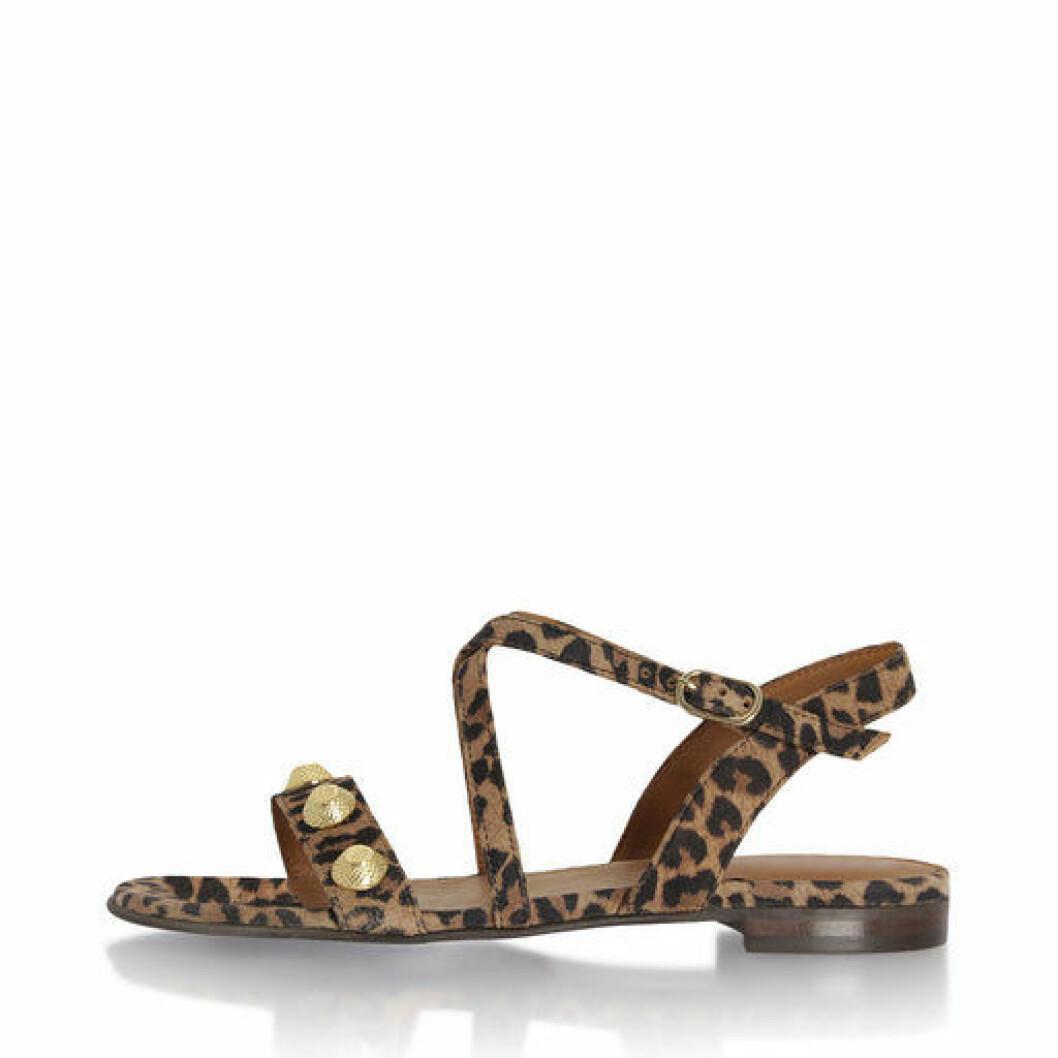 Leopardmönstrad sandal