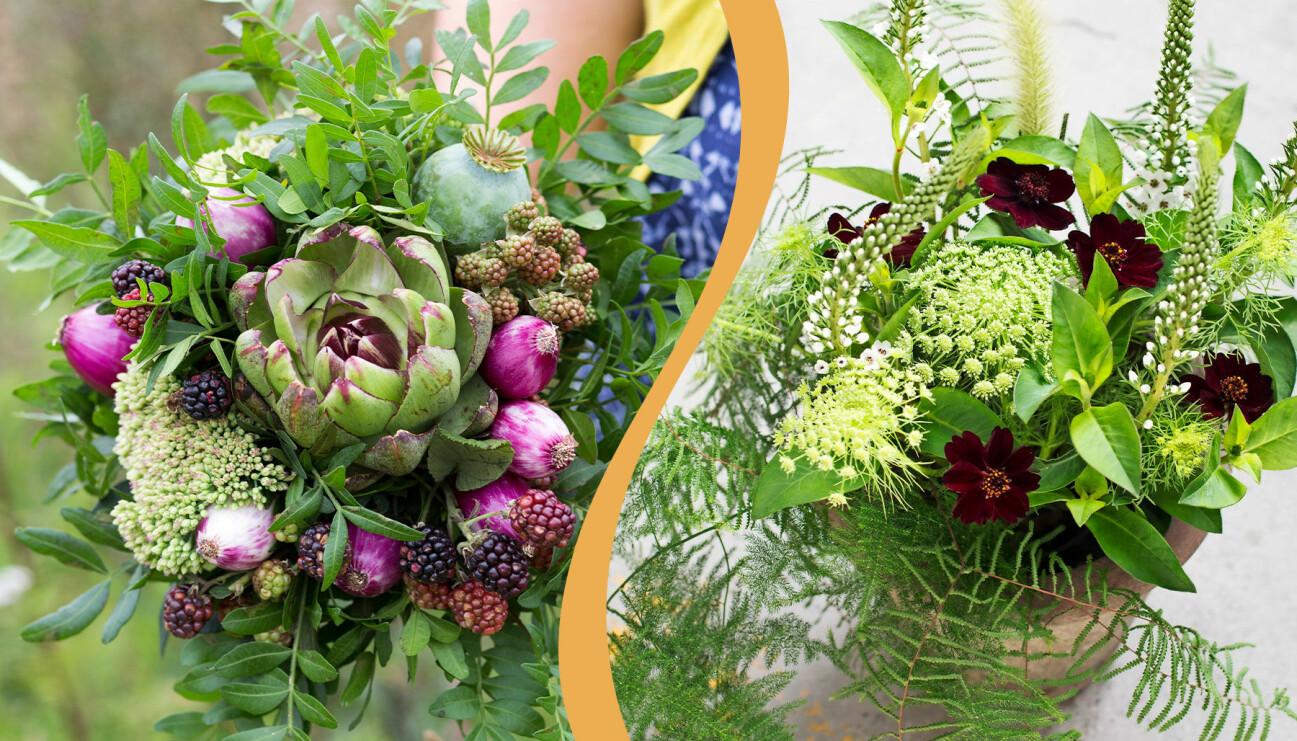 Bind buketter som dessa med floristens bästa tips.