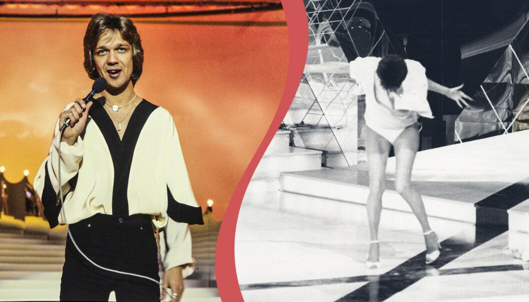Björn Skifs och Lill Lindfors i Eurovision.