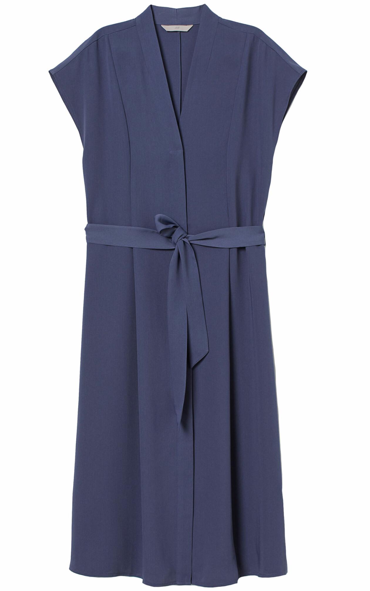 Blå kortärmad klänning från H&M