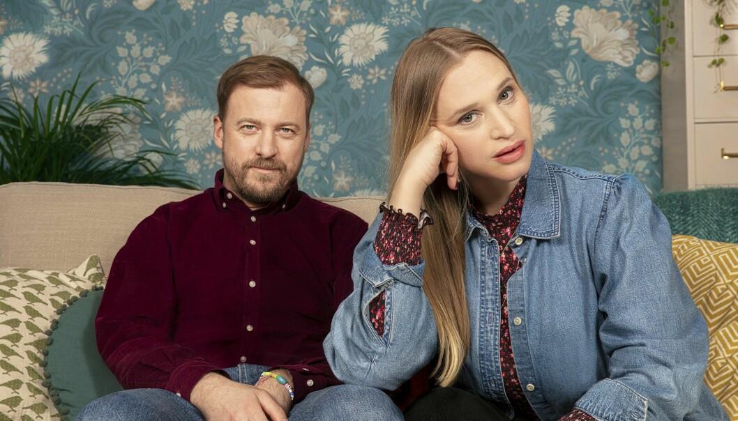 Foto från Bonusfamiljen på SVT hösten 2021.