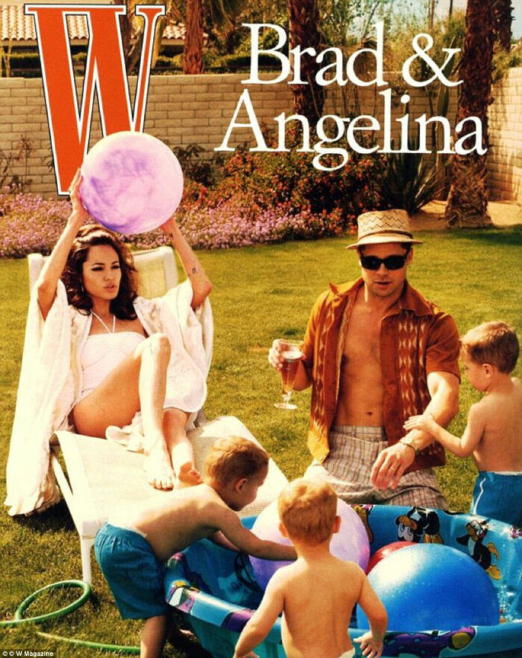 Brad och Angelina i W