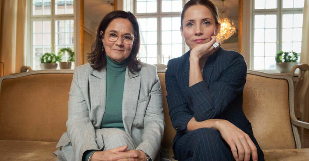 Tuva Novotny och Pernilla August är aktuella med Britt-Marie var här