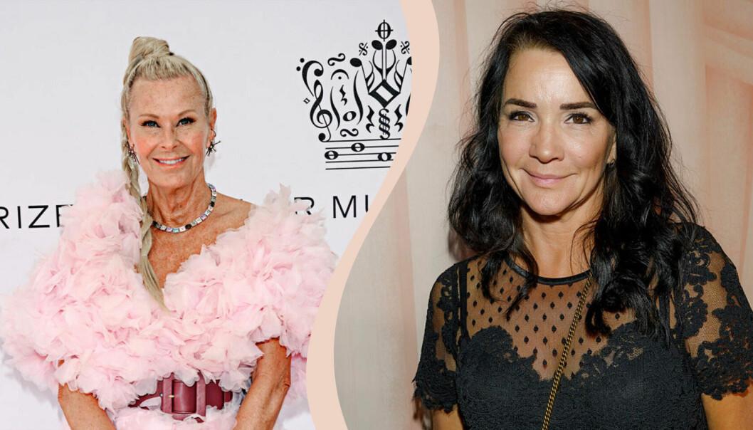 Till vänster Efva Attling, till höger Sofia Wistam.S