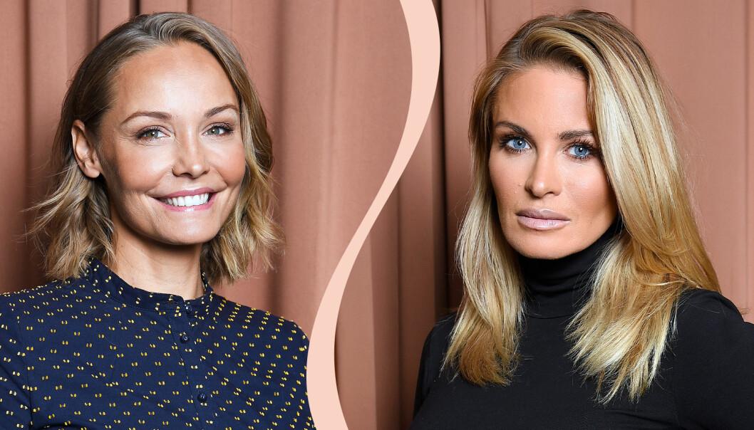 Carina Berg och Carolina Gynning har en podcast tillsammans och är nu gravida samtidigt. Nu avslöjar de båda könet på bebisarna i magen – de båda ska få flickor.