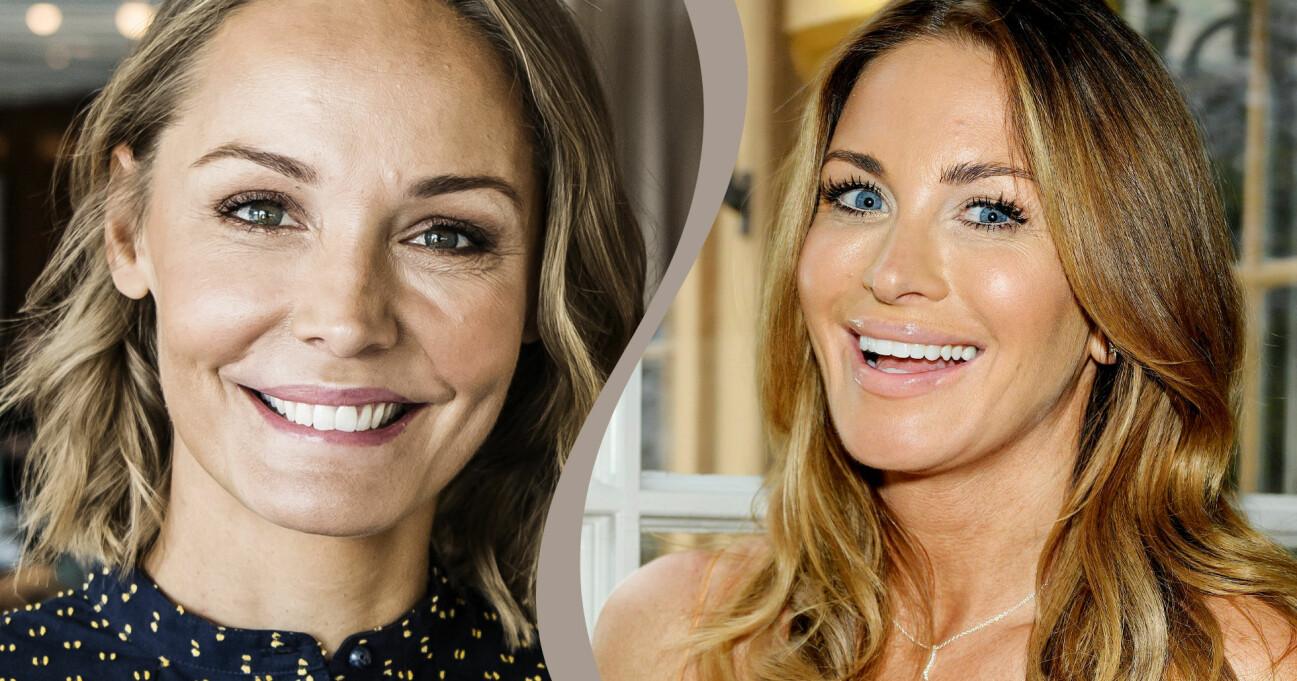 Både Carolina Gynning och Carina Berg väntar barn.