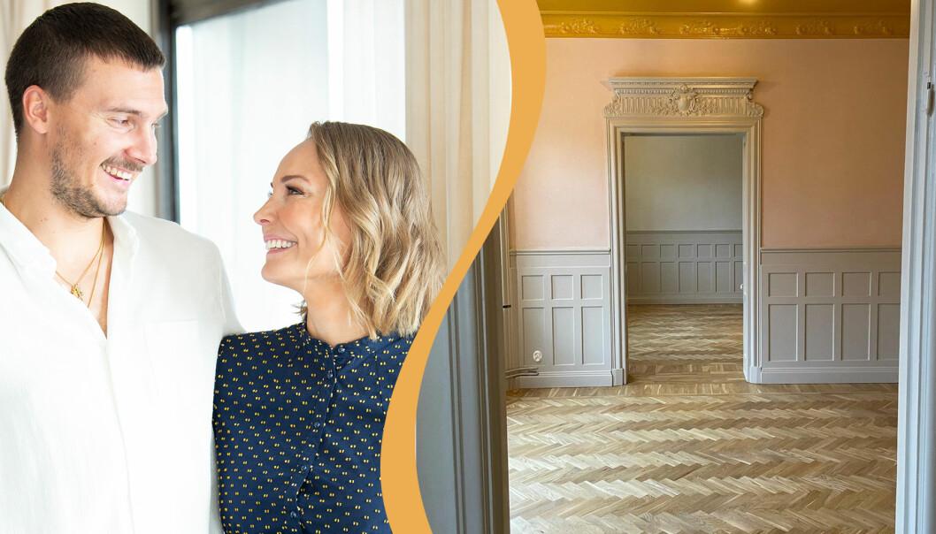 Carina och Erik Berg väntar barn. De ska flytta till en lägenhet i Stockholm innan tillökningen.