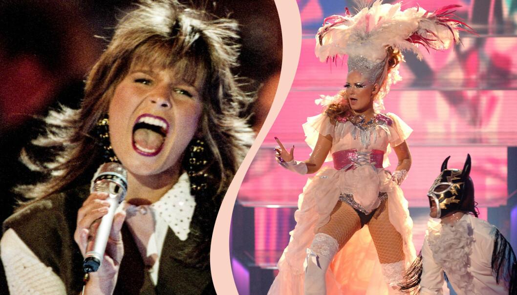 Carola Häggkvist representerade Sverige i Eurovision song contest i Rom 1991 med låten Fågad av en stormvind. Silvia Night uppträdde för Island under Eurovision 2006.