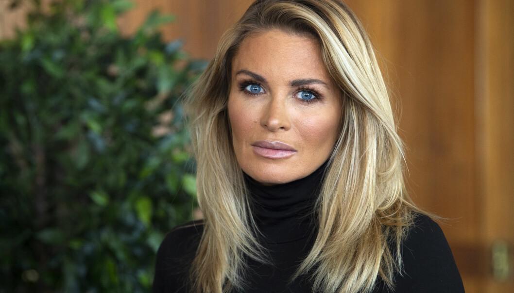 Carolina Gynning under en pressträff där nyheter på Kanal 5 presenterades år 2019.