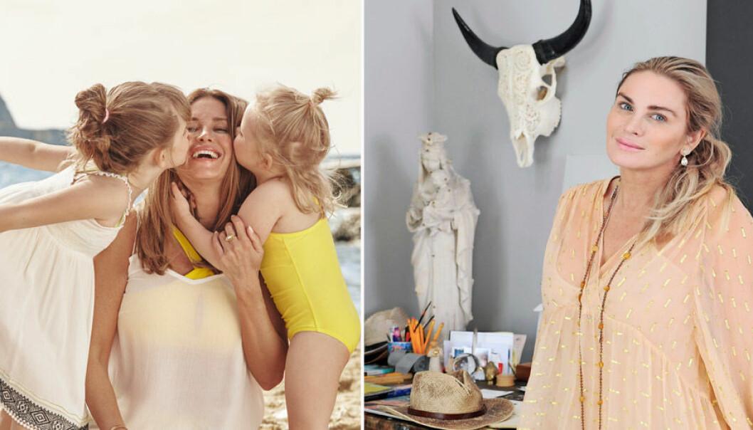 Carolina gynning med döttraran och i ateljen