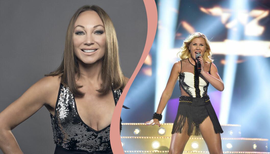 Charlotte Perrelli och Elisa Lindström i Melodifestivalen 2021