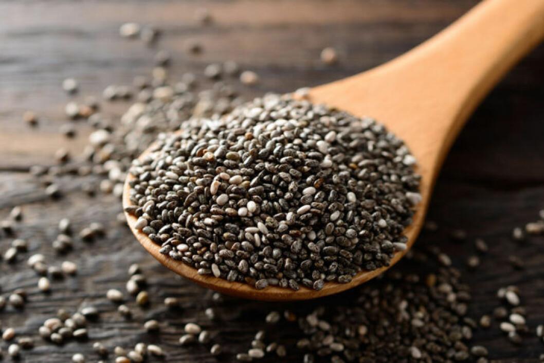Chiafrön innehåller mycket protein.