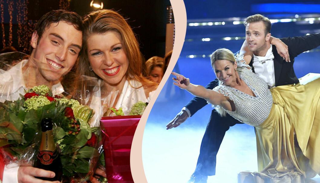 Vinnarna Måns Zelmerlöw och Maria Karlsson, Kristin Kaspersen och Calle Sterner