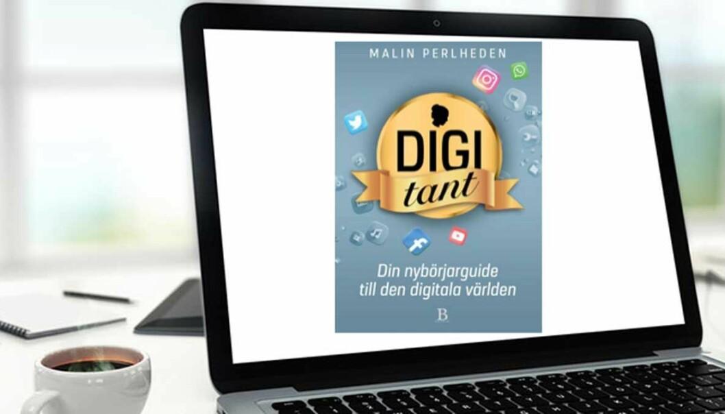 Omslag till Malin Perlhedens bok Digitant – Din nybörjarguide till den digitala världen.