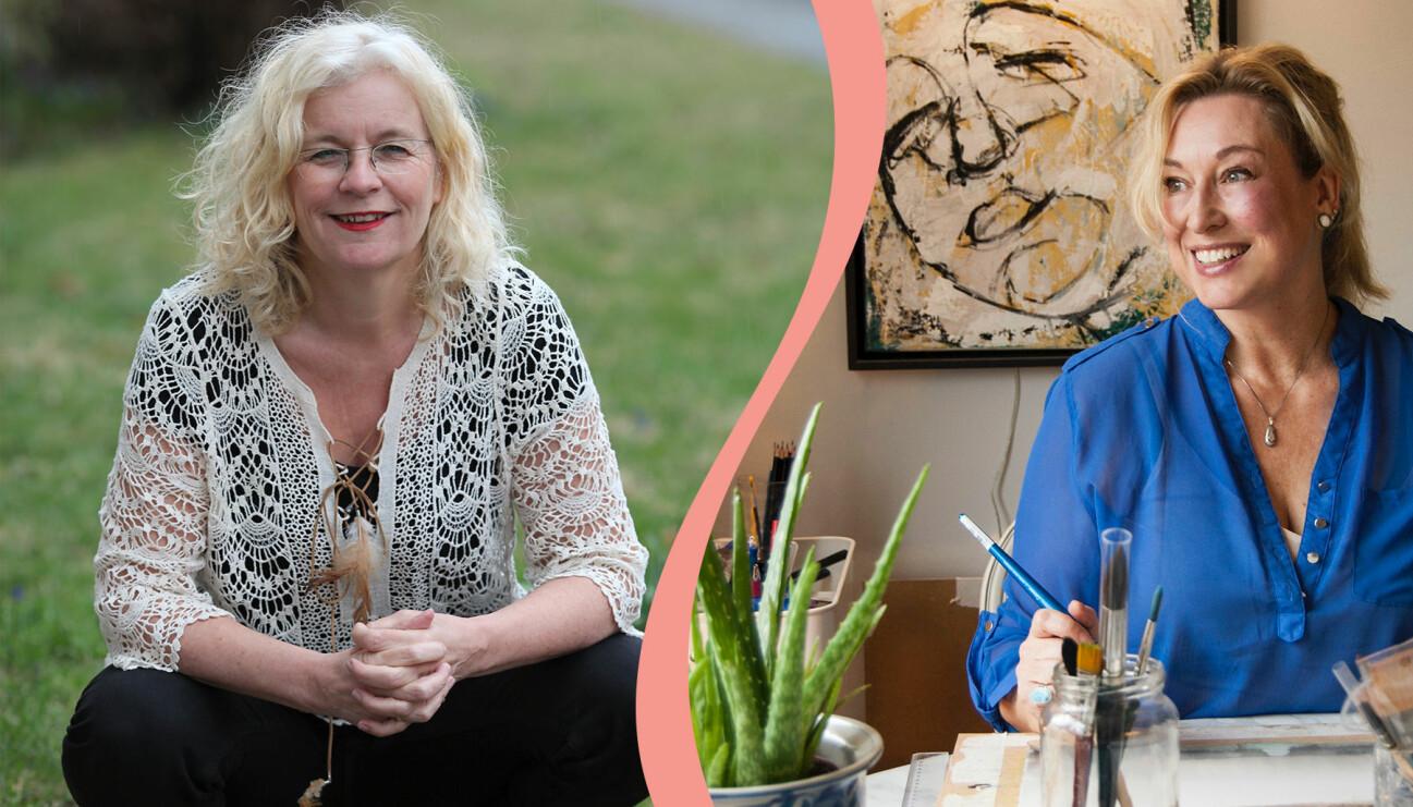 Coachen Charlotte Cronquist, till vänster, och konstnären Katarina Erasmie, valde både nya vägar i livet på olika sätt
