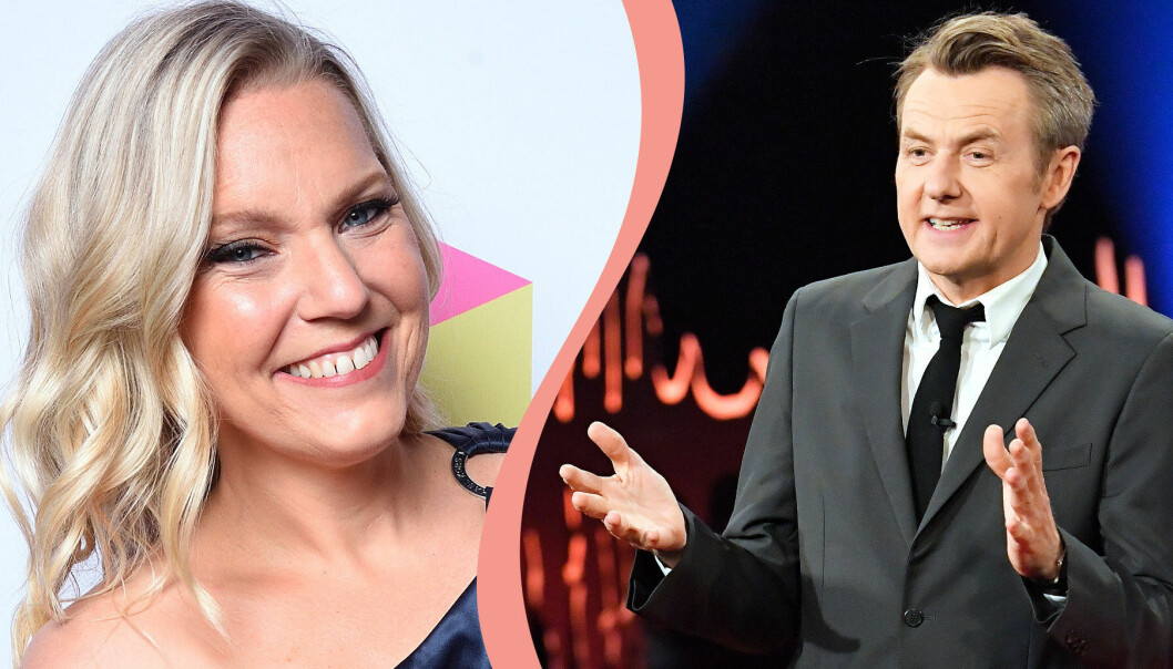 Delad bild. Till vänster: Carina Bergfeldt, som tar över Skavlan våren 2021. Till höger: Fredrik Skavlan.
