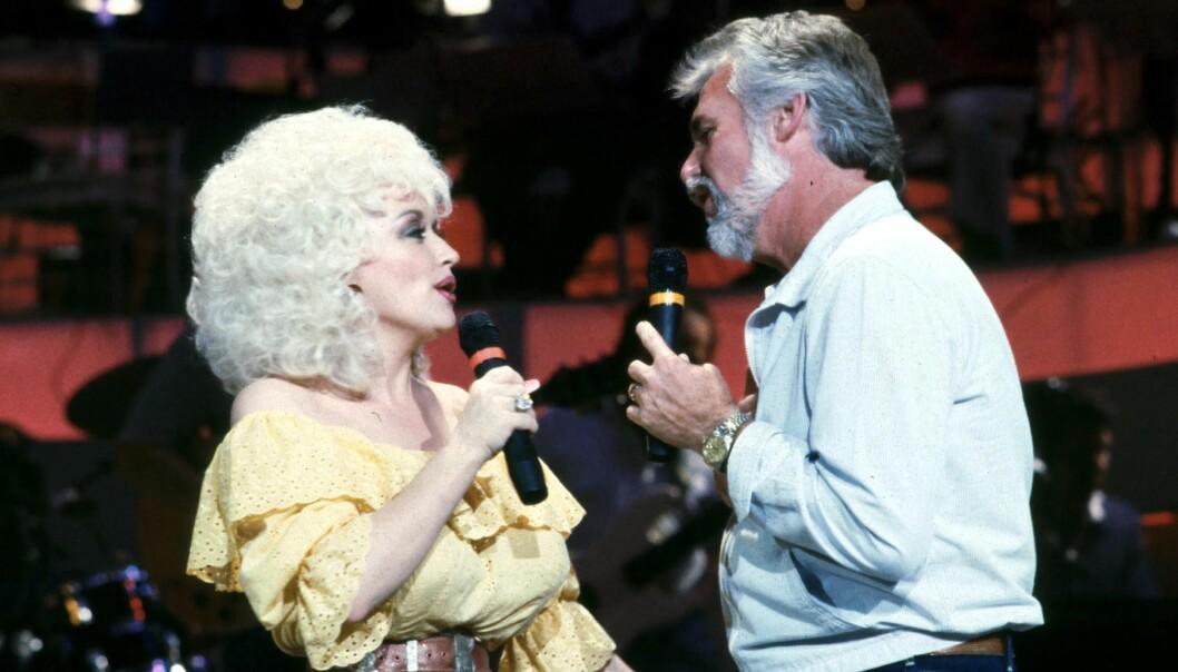 Dolly Parton och Kenny Rogers.