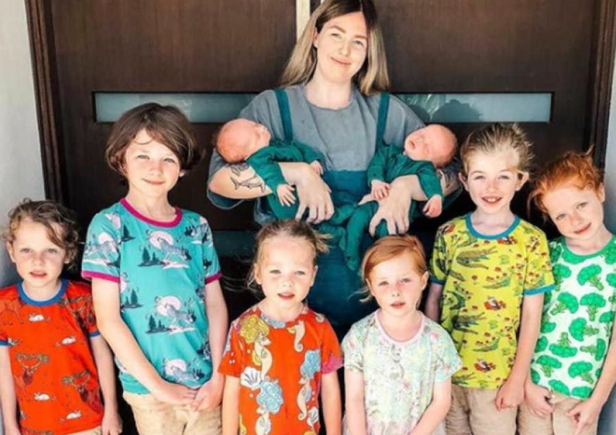 Mamma med åtta barn