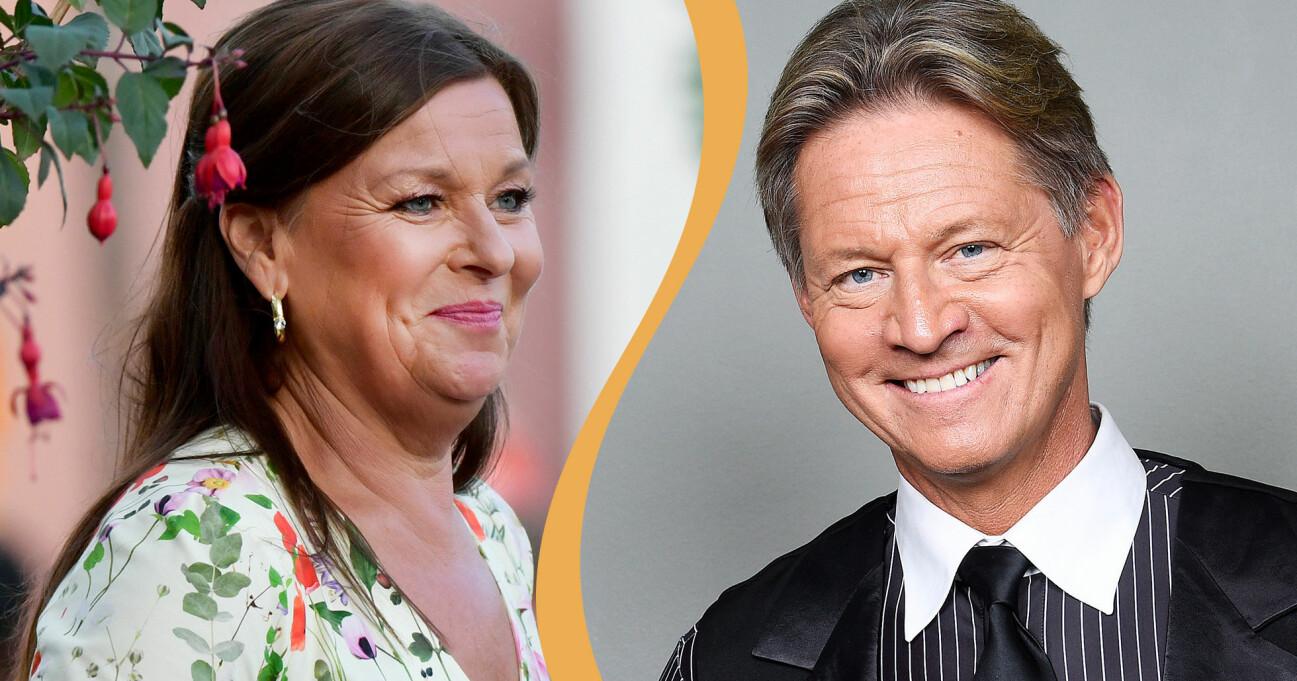 Kollage av artisten Lotta Engberg och Doktor Mikael Sandström (Soldoktorn) som nu är ett par.